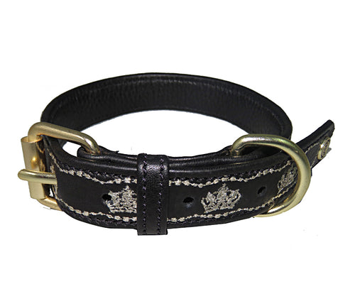 Halo Dog Collar - Leather with Royal Dog Collar