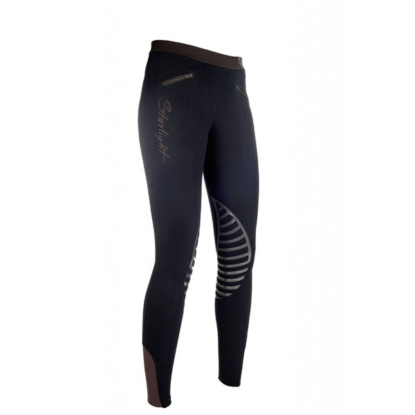 HKM Riding leggings -Starlight- silicone knee patch