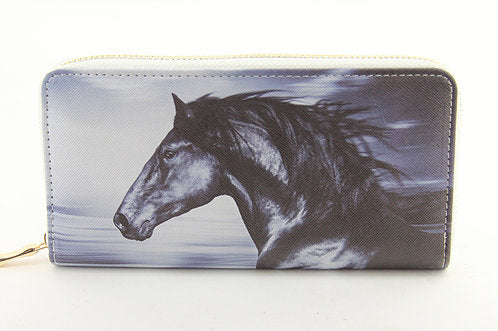 AWST Equi-ternatives Wallet with Black Horse