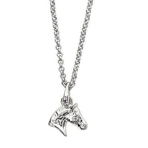 AWST Equi-ternatives Sterling Silver Horse Head Necklace