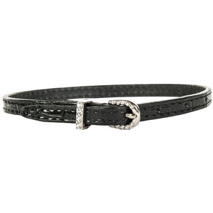 HKM Spur straps, leather with crystal closure