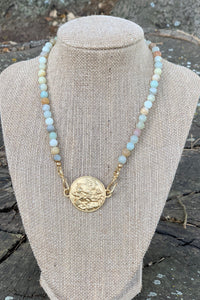 TJP Sun Chariot on Amazonite Gemstone Beads