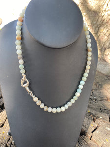TJP Amazonite necklace with Half Bit Fitting Clasp