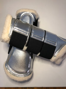 Tendon Boots Metallic - Rose Gold or Silver