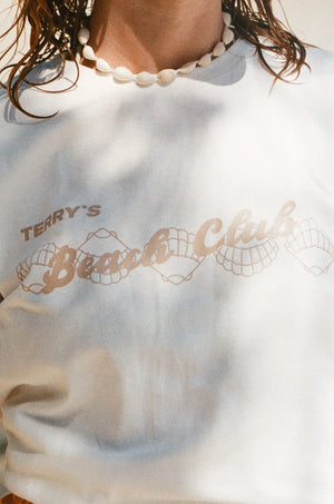 BEACH CLUB TEE - BIANCO