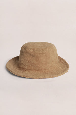 TERRY BUCKET HAT - TAN