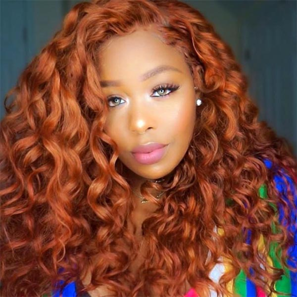 360x6 Lace Frontal Ginger Pre-plucked Remy Human Hair Wigs