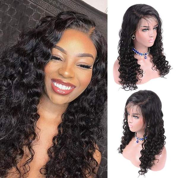 13x6 Lace Front Deep Curly Wave Wigs for black women