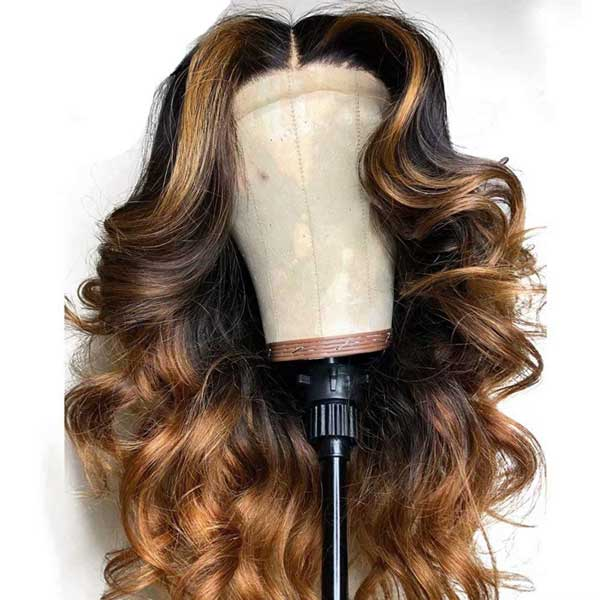 Lace Frontal Ombre Pre-plucked Remy Human Hair Wigs