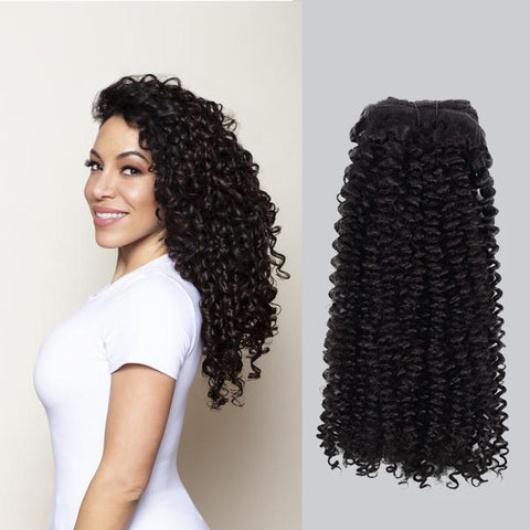 Curly Natural Black Clip in Hair Extensions