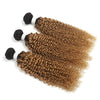 Curly 1B/27 hair Extension Remy Human Hair Bundles /3 Pieces