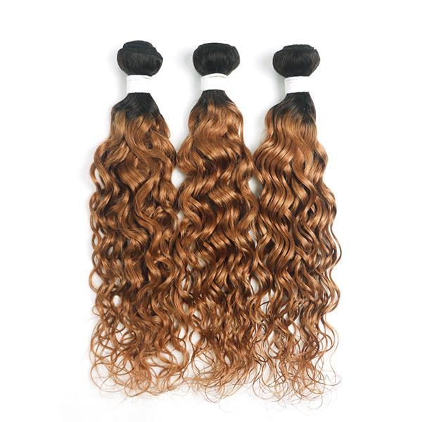 Curly 1B/30 hair Extension Remy Human Hair Bundles /3 Pieces