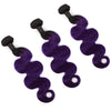 Bodywave 1B/Purple hair Extension Remy Human Hair Bundles /3 Pieces