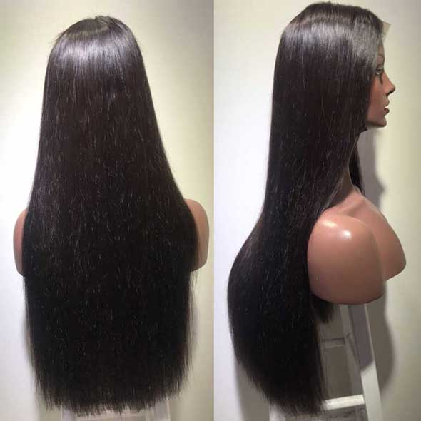 250% Silky Straight Fake Scalp Wig Lace Front Wig Preplucked Wigs Affordhair for Black Woman