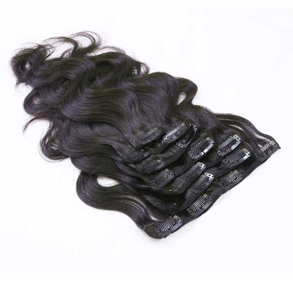 Body Wave Natural Black Clip in Hair Extensions