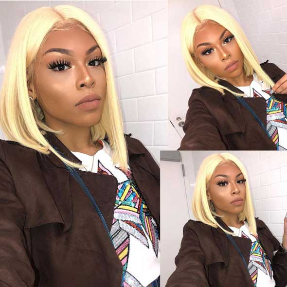 613 Blonde Color 360 Lace Frontal Wig Pre Plucked Straight Wigs Affordhair for Black Woman