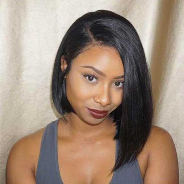 Fake Scalp 13x6 Lace Front Human Hair Straight Bob Wigs for Black Woman