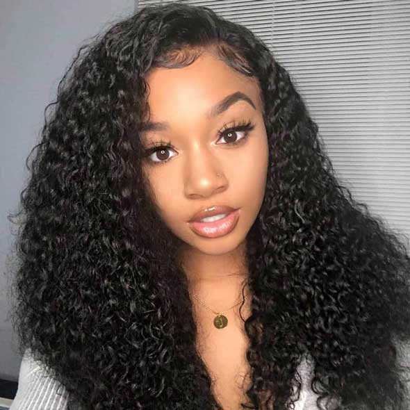 250% Density Fake Scalp 13x6 Curly Lace Front Wigs Pre Plucked