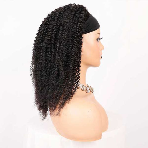 Glueless Headband Wig Virgin Human Hair Jerry Curly