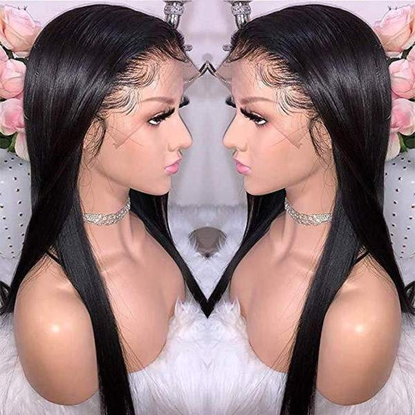 Pre-Plucked Glueless Full Lace Silky Straight Wigs for black women