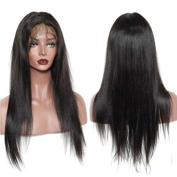 Pre Plucked 360 Lace Silky Straight Wigs for black women