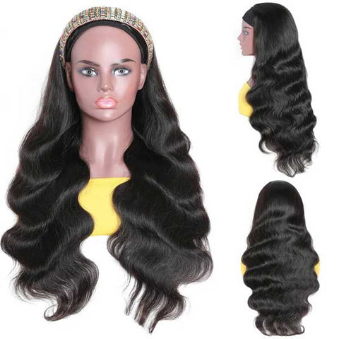 Glueless Headband Wig Virgin Human Hair Body Wave