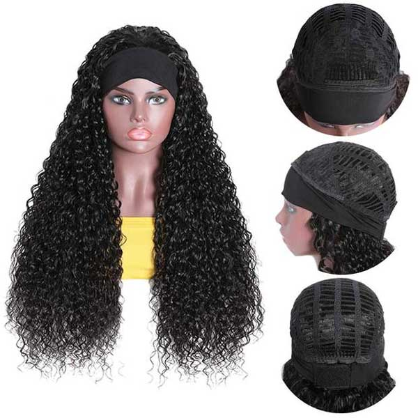 Glueless Headband Wig Virgin Human Hair Curly
