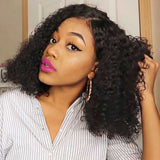 Human Hair Pre Plucked Full Lace Glueless Curly Wigs for Black Woman