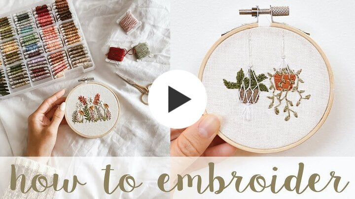Embroidering botanicals - a tutorial round up.