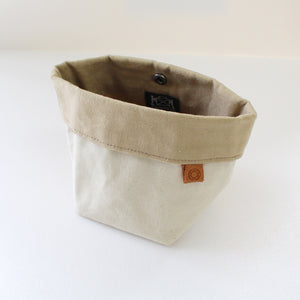 Cohana waxed canvas accessory pouch