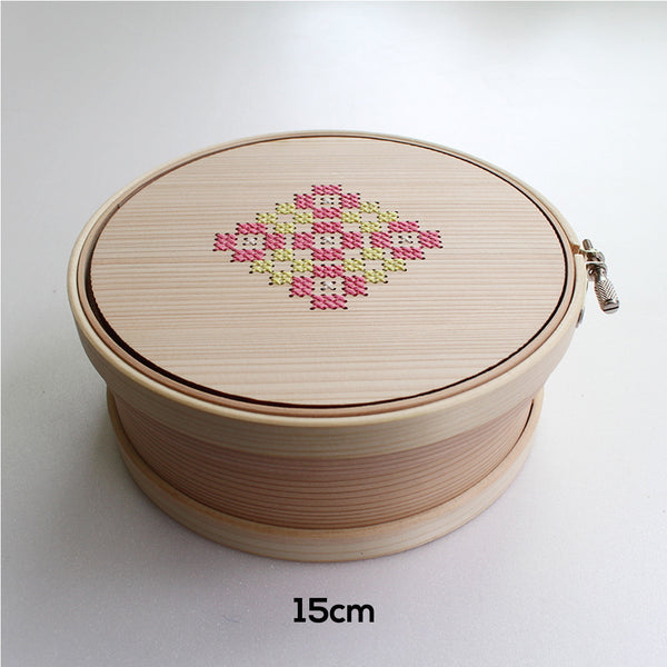 Cohana Magewappa Toolbox Embroidery Hoop - 12 cm / 15cm Yellow & Pink (Coharu)