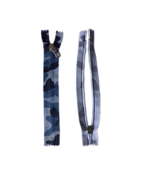 Camouflage Zippers (20cm)