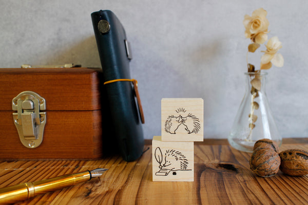 Rubber stamps by Momoro: Hedgehog series