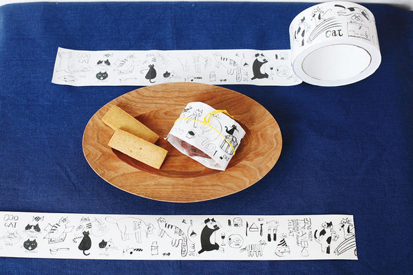 Classiky: cat washi tape wide