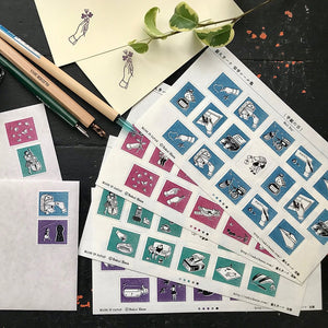 Rakui Hana - Stamp Sticker Collection