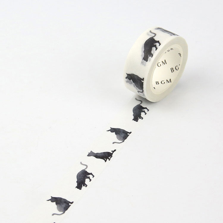 BGM Washi tape Cat series - Black cat