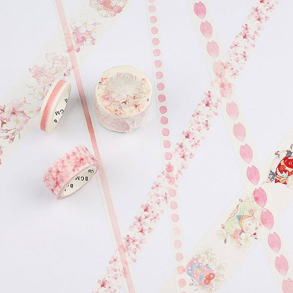 BGM Washi tape Sakura series - 8 Minutes