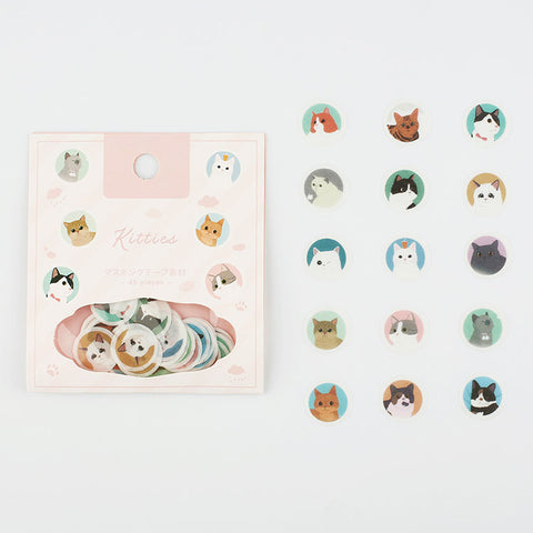 "BGM Washi tape - ""Kitties"" letter seals"