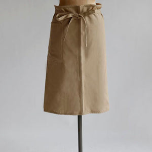 Classic half apron - cotton drill- fawn or khaki