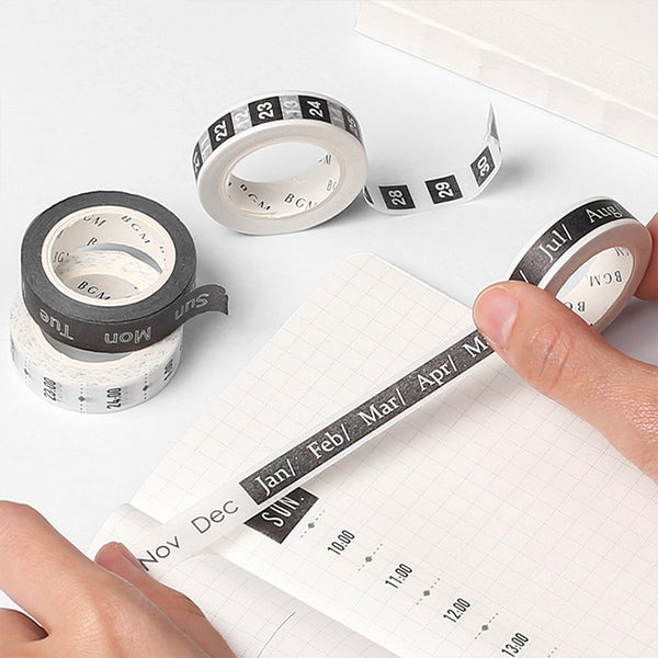 BGM Washi Tape - Journal Range - Date