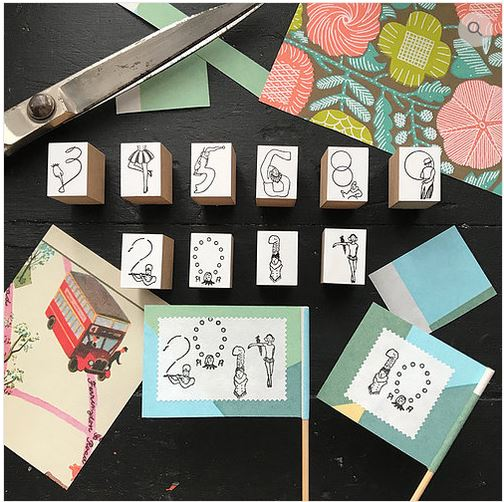 Rakui Hana stamps - Circus Troupe Number Stamp Set