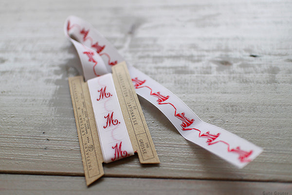 Embroidered Letter Ribbon N-Z