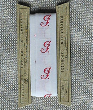 Embroidered Letter Ribbon A-M