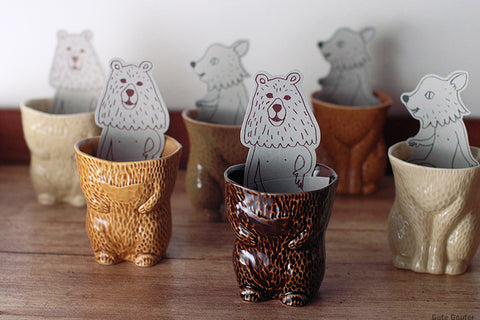 Classiky - Kiyata Cat and Bear cups