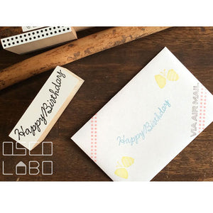 Rubber stamps by Osco Labo: Garland series - Congratulations, Thanks A Million, Happy Birthday