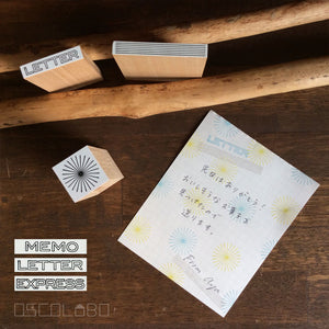 Rubber stamps by Osco Lobo: Memo, Letter, Express