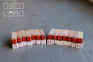 Rubber stamps by Osco Lobo: Alphabet cross-stitch