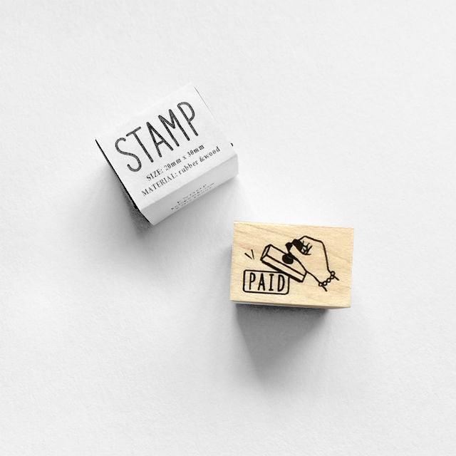 Rubber stamps by Knoop Works: Paid