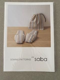 Sewing pattern -  SABA slipper and bag by Roll