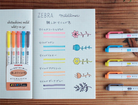 Zebra pens - Shitashimi / Friendly x 5 Pens